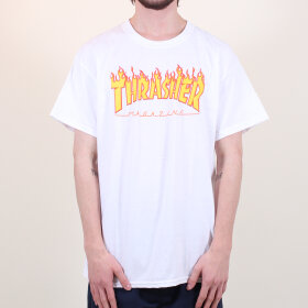 Thrasher - S/S Tee Flame | White