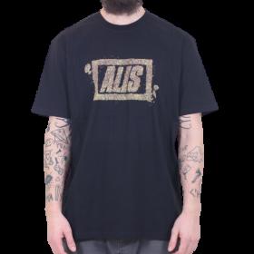 Alis - Crumble Stencil Logo T-Shirt | Black