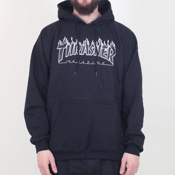Thrasher - Thrasher - Hood Flame | Black/Black